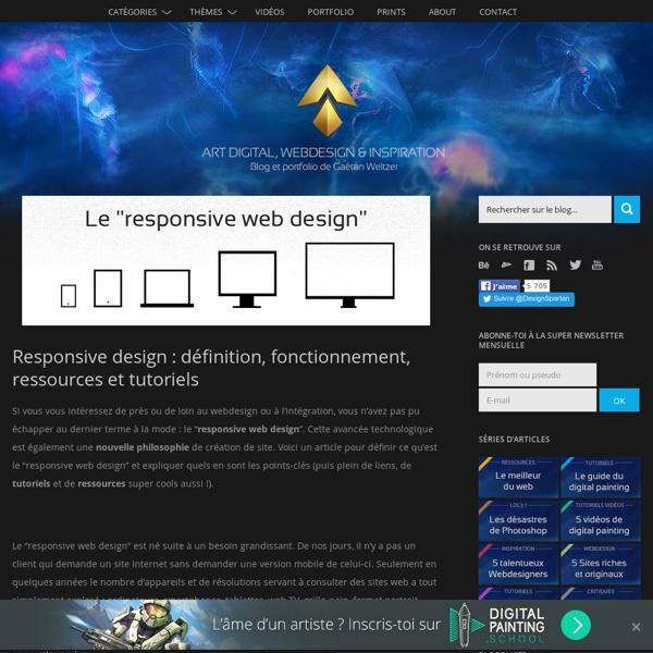 Responsive design : définition, fonctionnement, ressources et tutoriels