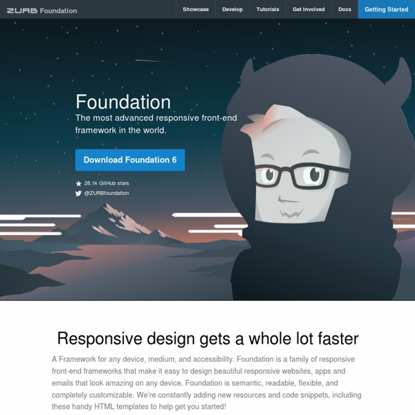 Foundation: The Most Advanced Responsive Front-end Framework from ZURB
