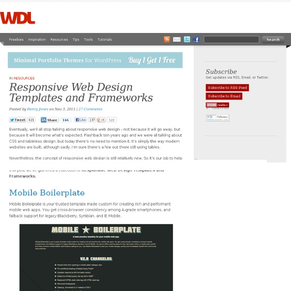 Responsive Web Design Templates and Frameworks