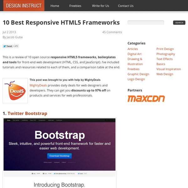 10 Best Responsive HTML5 Frameworks