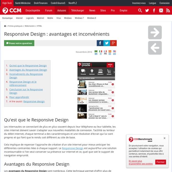 Responsive Design : avantages et inconvénients