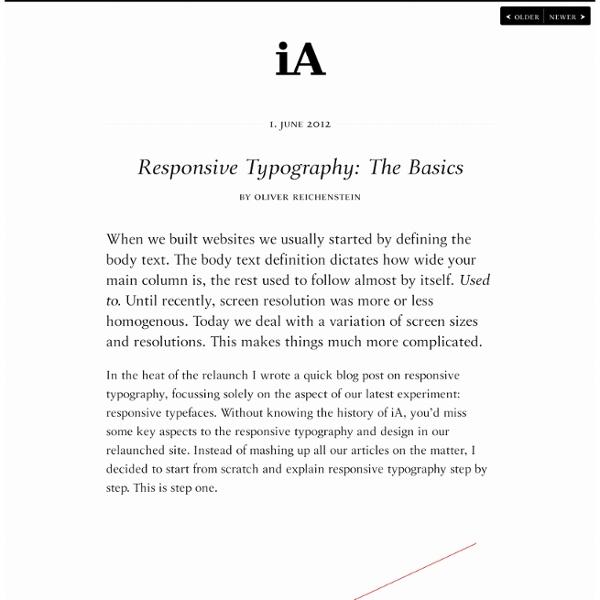 Responsive Typography: The Basics