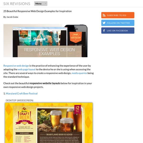 25 Beautiful Responsive Web Design Examples for Inspiration