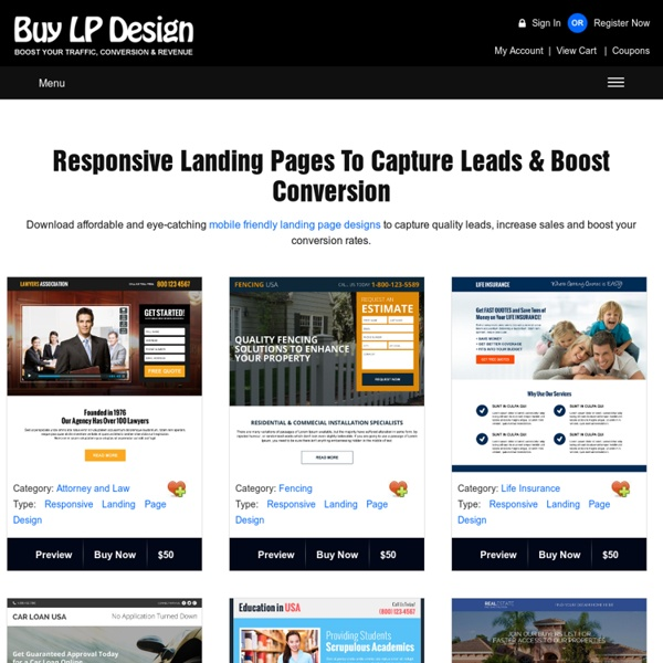 Landing page design templates, responsive landing pages, ppv