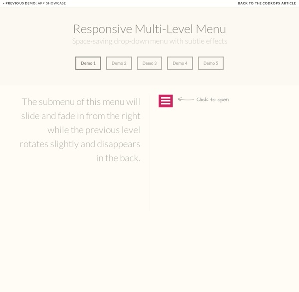 Responsive Multi-Level Menu - Demo 1