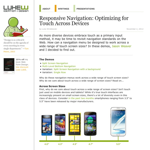 Responsive Navigation: Optimizing for Touch Across Devices