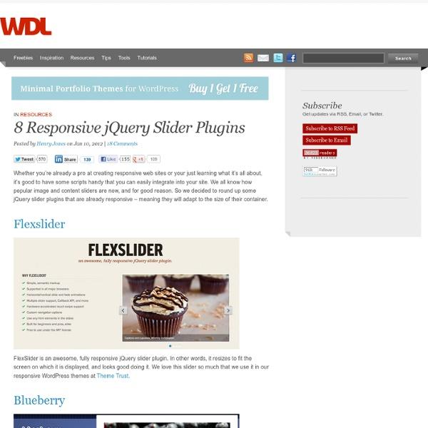 8 Responsive jQuery Slider Plugins