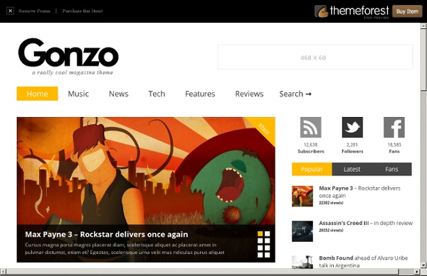 Gonzo - Clean, Responsive WP Magazine Preview