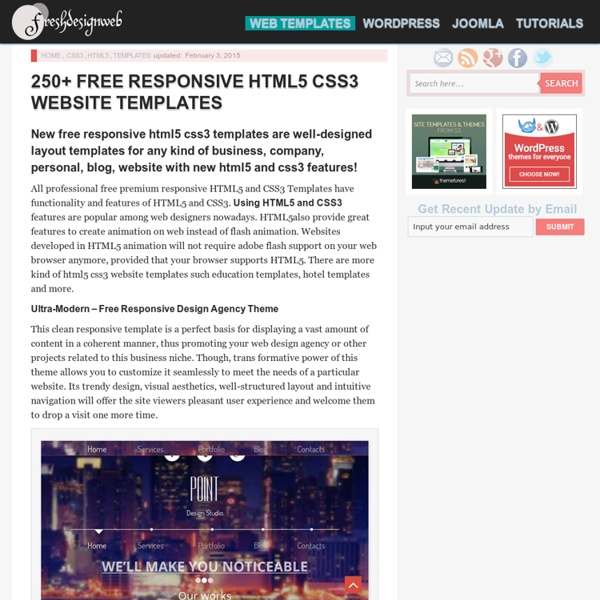 Free Html5 And Css3 Website Templates: 250+ Free Responsive HTML5 CSS3 Website Templates