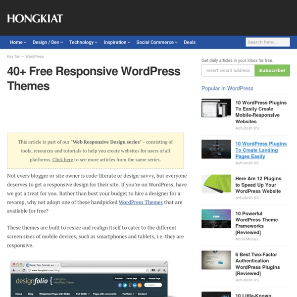 40+ Free Responsive WordPress Themes