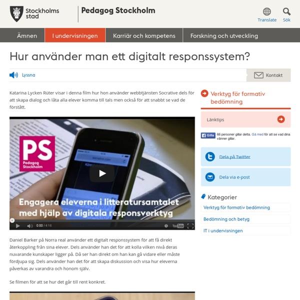 Hur använder man ett digitalt responssystem?