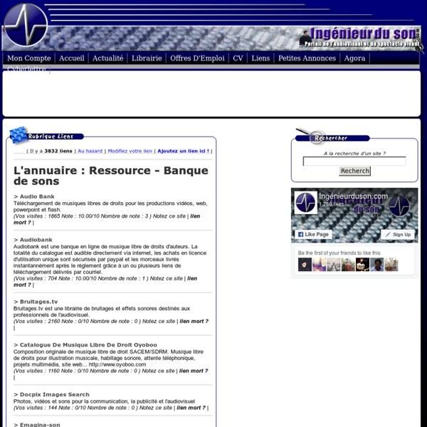Ressource - Banque de sons