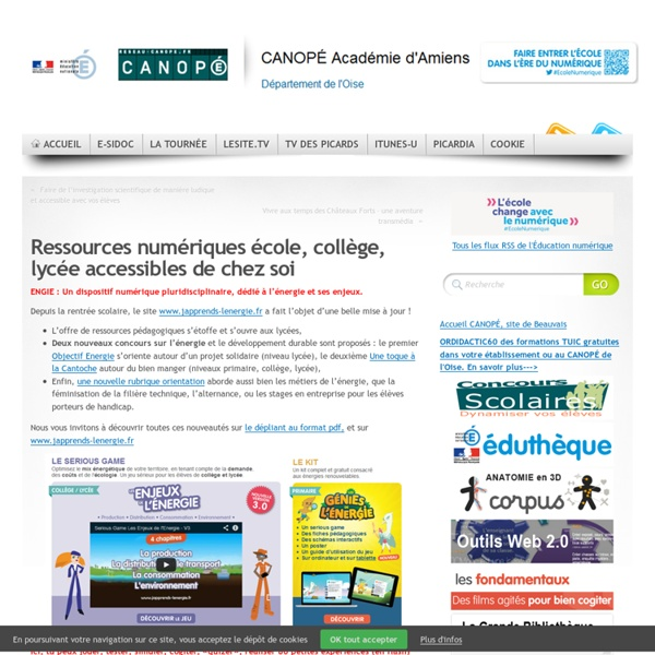 +400 Ressources numériques école, collège, lycée accessibles de chez soi