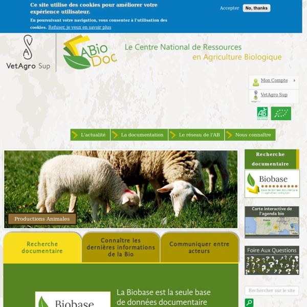 ABioDoc: centre national de ressources en agriculture biologique
