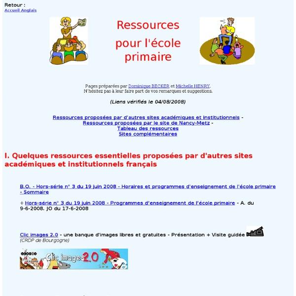 Ressources en anglais pour l'école primaire