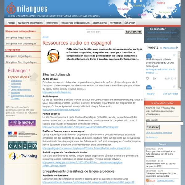 Ressources audio en espagnol