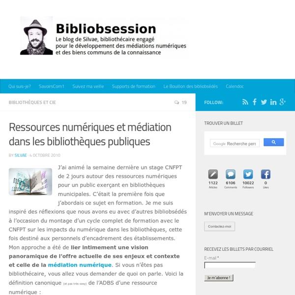 Ressources numériques et médiation dans les bibliothèques publiques