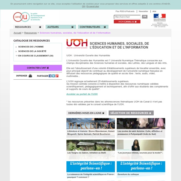 Ressources - Canal-U