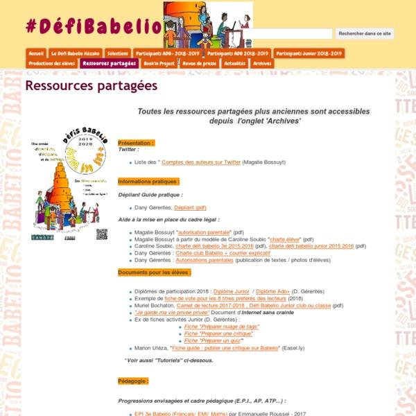 Ressources - #DéfiBabelio