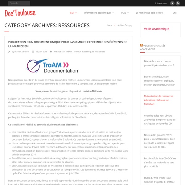 Ressources – Doc'Toulouse