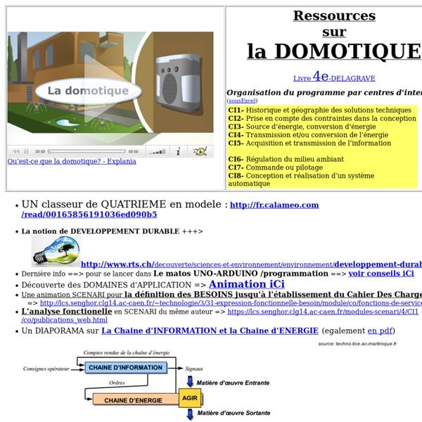 Ressources DOMOTIQUE