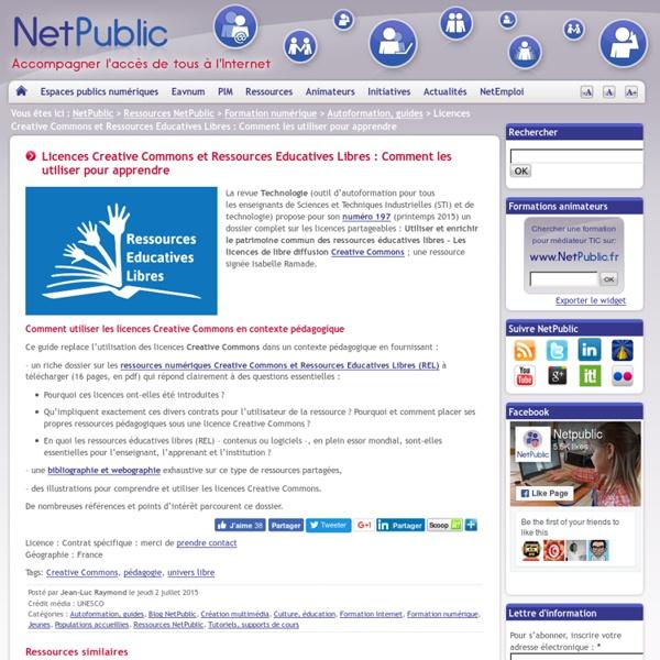 Licences Creative Commons et Ressources Educatives Libres : Comment les utiliser pour apprendre