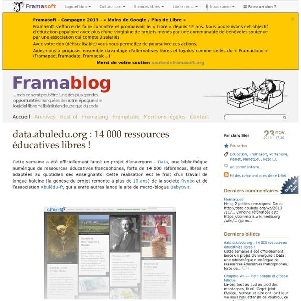 Data.abuledu.org : 14 000 ressources éducatives libres !