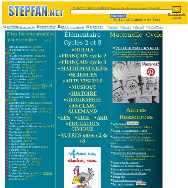 Portail et annuaire de ressources pour l'école primaire : maternelle et élémentaire