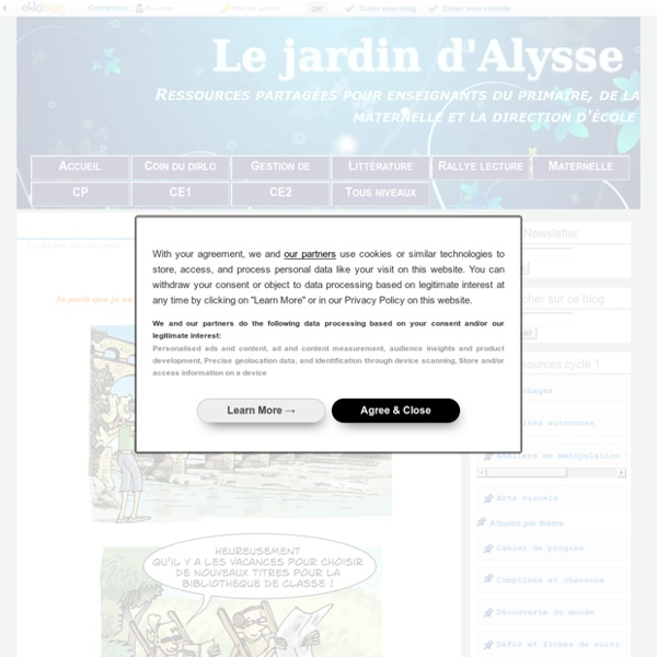Le jardin d'Alysse - Ressources partagées pour enseignants du primaire, de la maternelle et la direction d'école