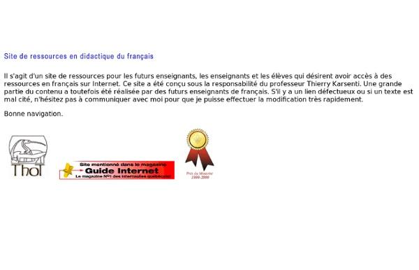 Ressources pour l'enseignement du français