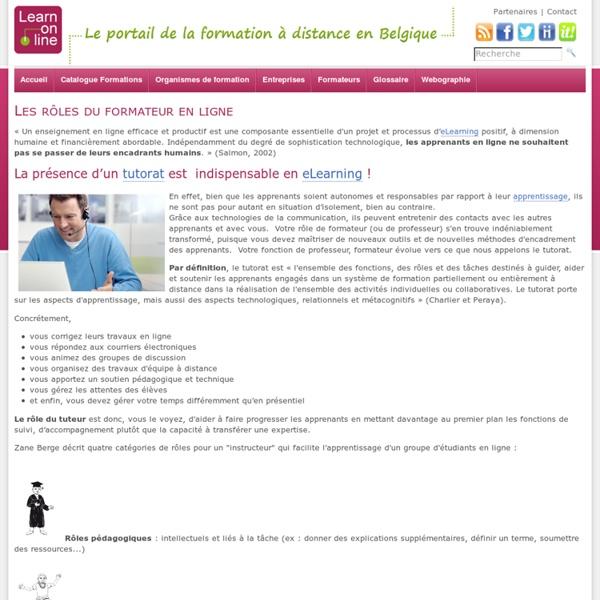 Learn-on-line.be - Les rôles du formateur en ligne - Ressources_Formateurs - Formateurs
