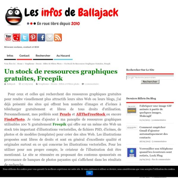Un stock de ressources graphiques gratuites, Freepik