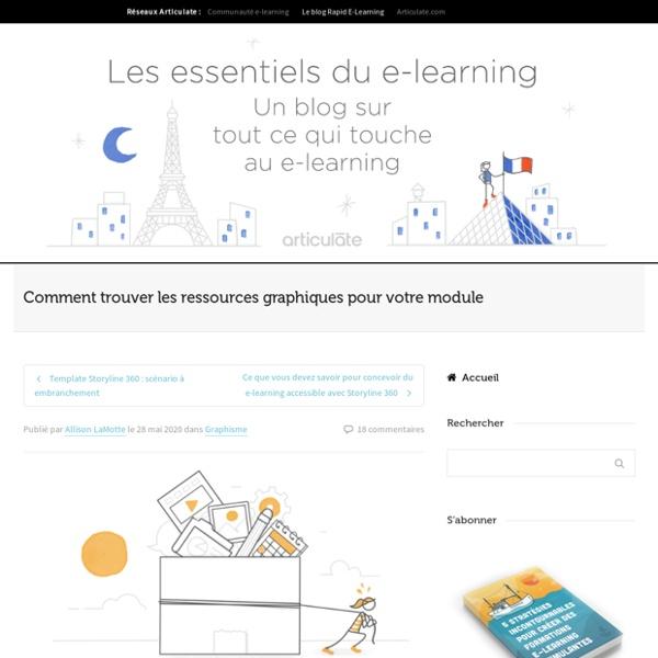 Trouver les ressources graphiques pour un module e-learning