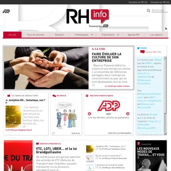 RH info - A la une