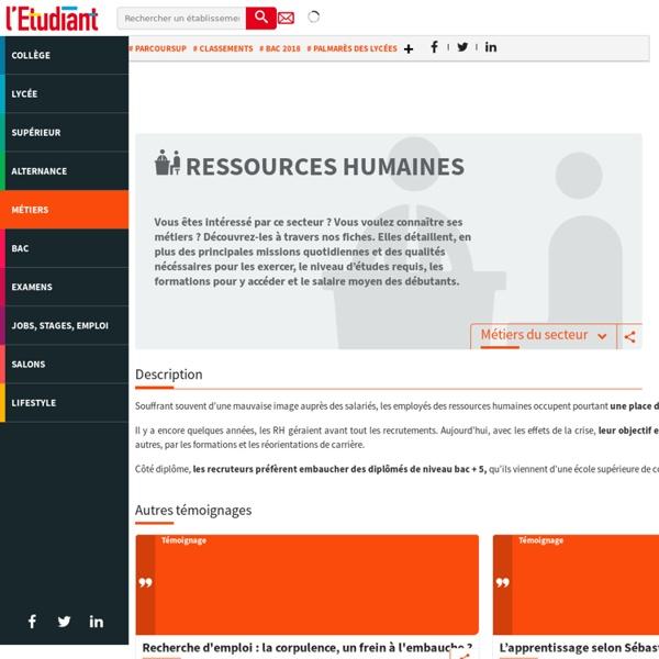 Ressources humaines : le secteur des ressources humaines à la loupe