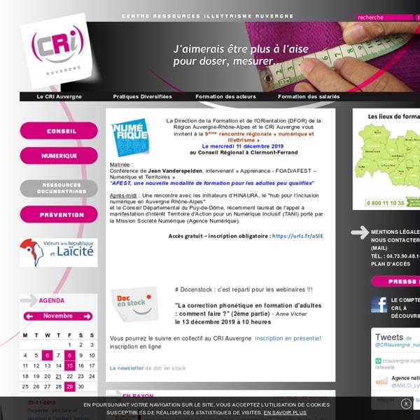 Centre Ressources Illettrisme Auvergne