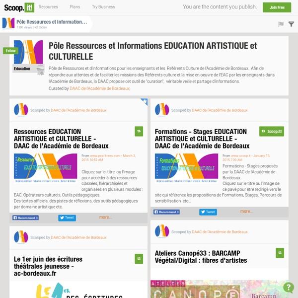Pôle Ressources et Informations EDUCATION ARTISTIQUE et CULTURELLE