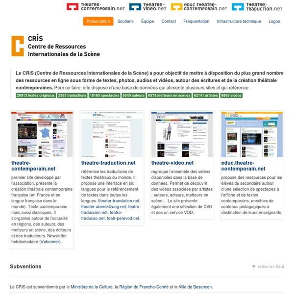 CRIS : Centre de Ressources Internationales de la Scène