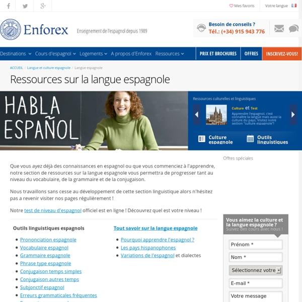 Langue espagnole - Ressources linguistiques