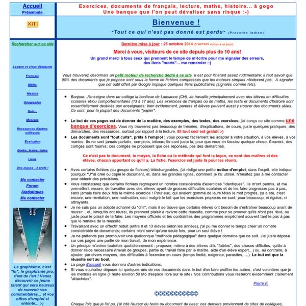 Ressources éducatives exercices lecture mathématique