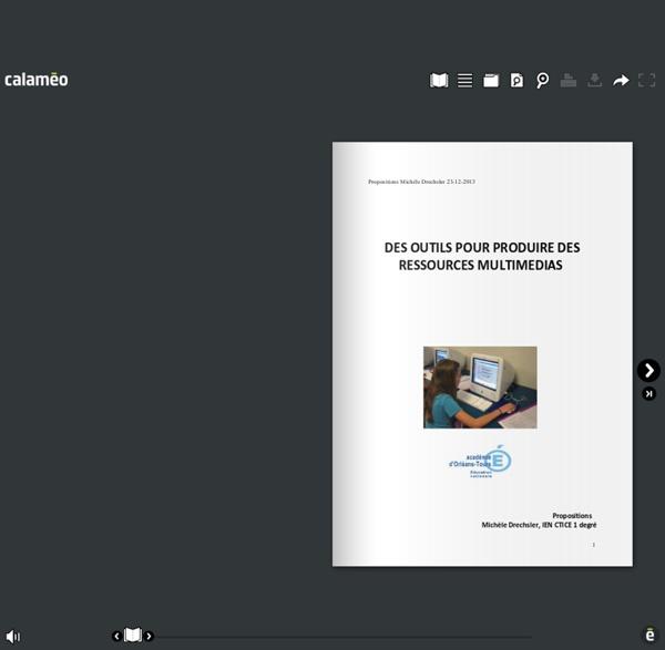 Produire des ressources numériques multimédias