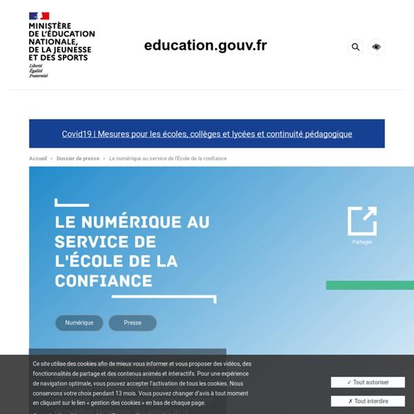 « Banque de ressources numériques » pour les cycles 3 et 4 : résultats de l'appel d'offres - L'école change avec le numérique