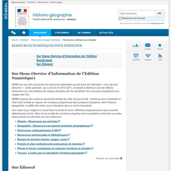 Ressources numériques pour enseigner-Histoire-géographie et éducation civique-Éduscol