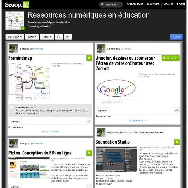 Ressources numériques en éducation