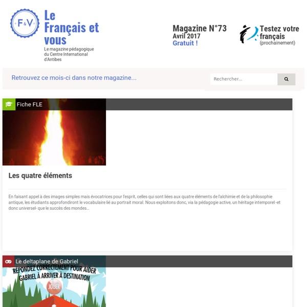 Apprendre le francais en ligne - Exercices et Jeux FLE - Ressources FLE – Fiches pédagogiques pour enseigner le Français - Gratuit