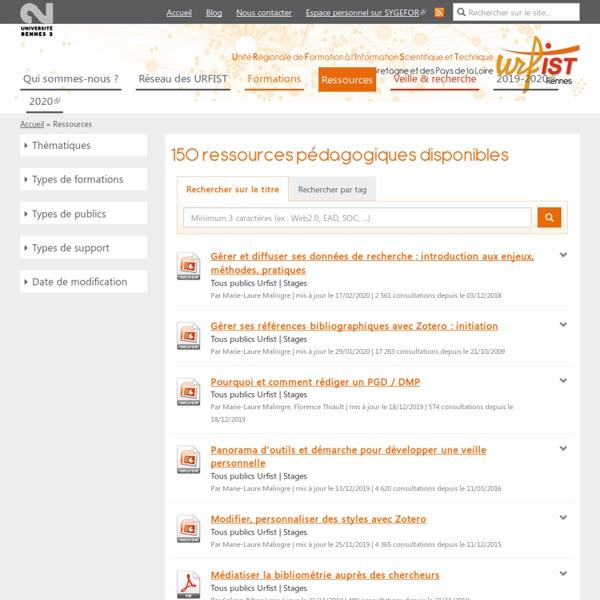 Ressources pédagogiques - Urfist de Rennes