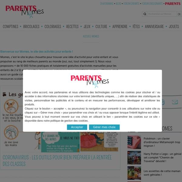 Momes.net : idées, coloriages et activités pour enfants