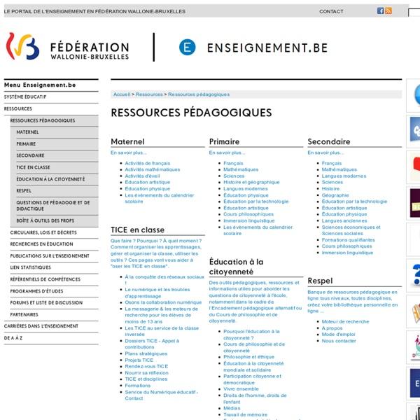 Enseignement.be - Ressources pédagogiques