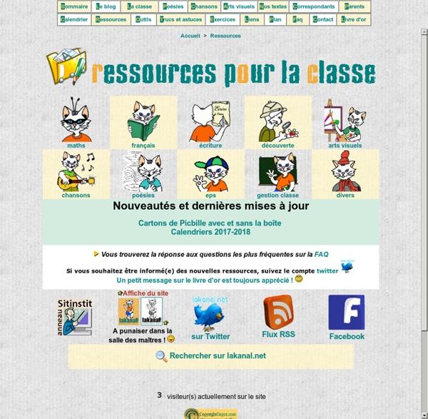 Ressources pédagogiques pour le cp ce1 : lakanal.net