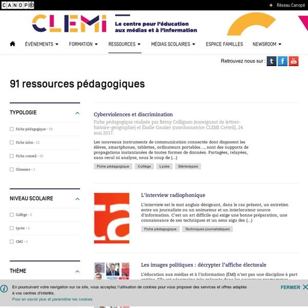 Nos ressources pédagogiques- CLEMI